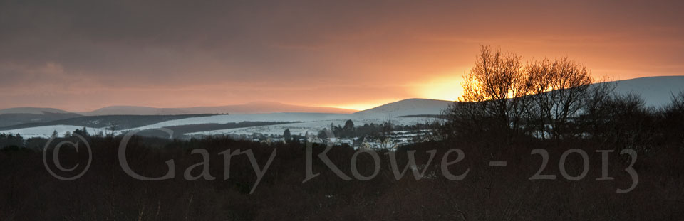 Sunset over Roundwood